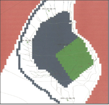 Modflow groundwater model used to design field blocks to minimize effects on surface and groundwater