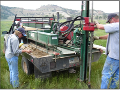 drilling shallow monitoring wells for groundwater investigation