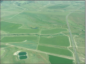 aerial view of Perry Ranch SDI project